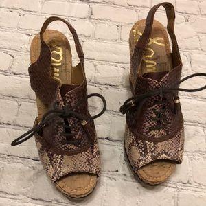 d64cabf2118a36 Sam Edelman Shoes - Sam Edelman Tinley Snakeskin Wedge